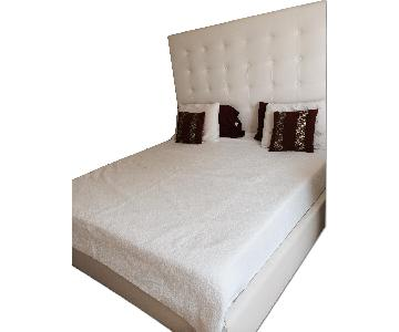 DG Casa Delano White King Platform Bed Frame