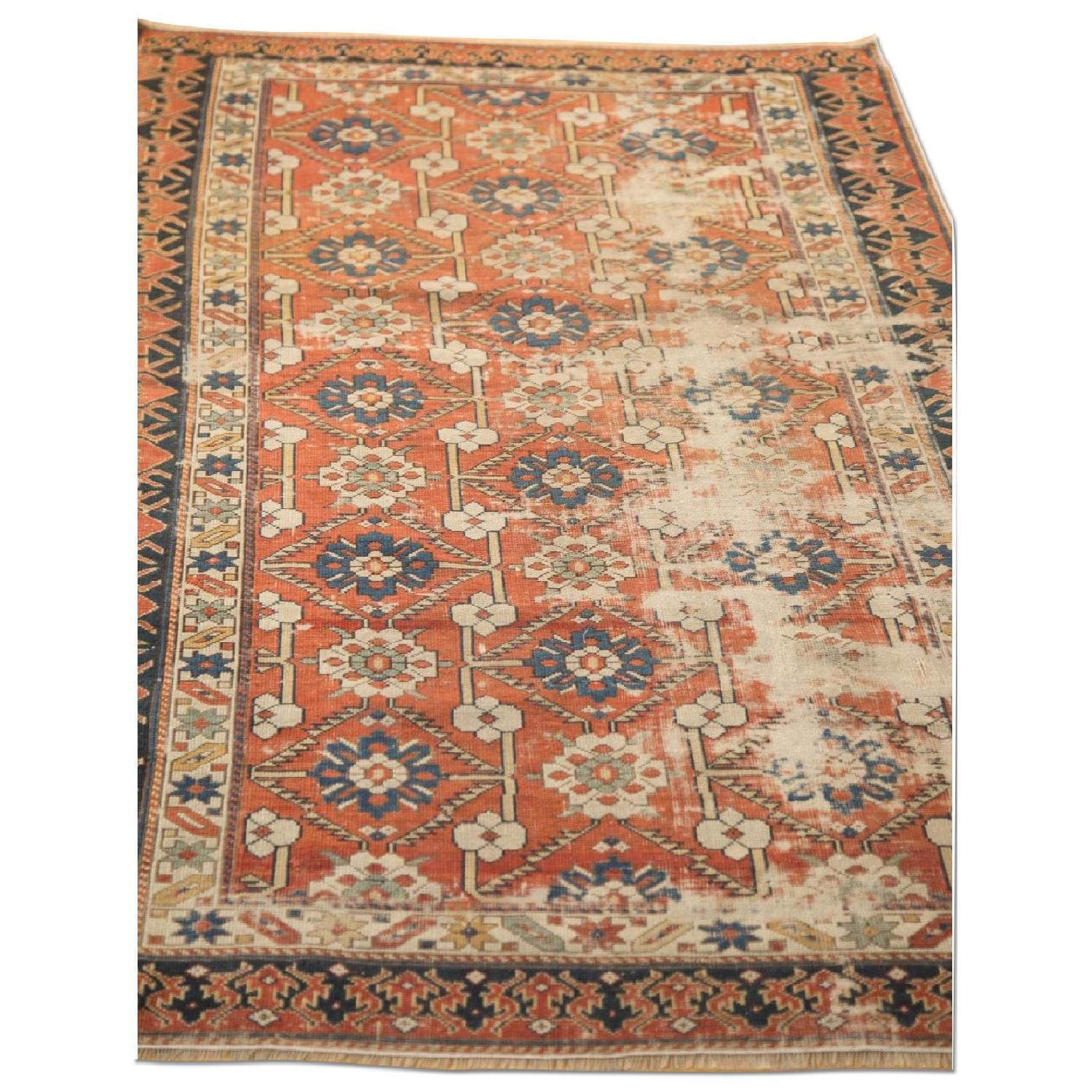 Old New House Antique Distressed Caucasian Rug