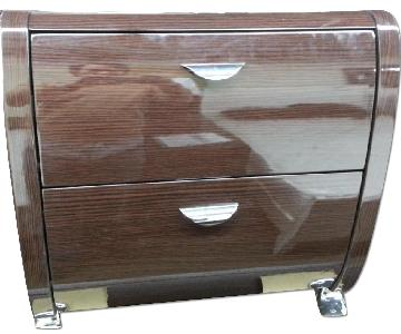 High Gloss Night Table in Wenge Finish