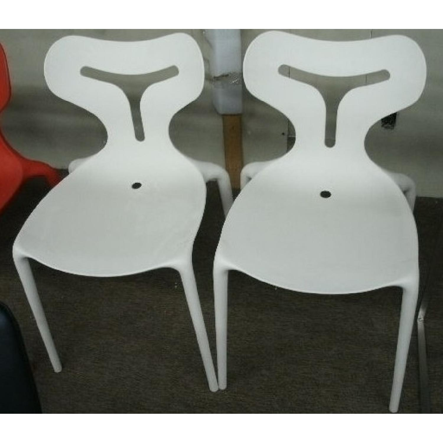 Calligaris Italian Stackable Chairs - Set of 4 - image-2