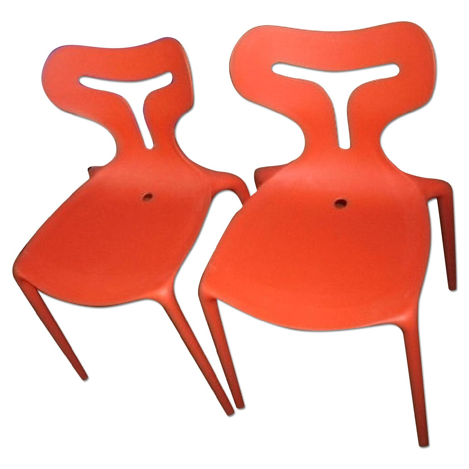 Calligaris Italian Stackable Chairs - Set of 4 - image-4