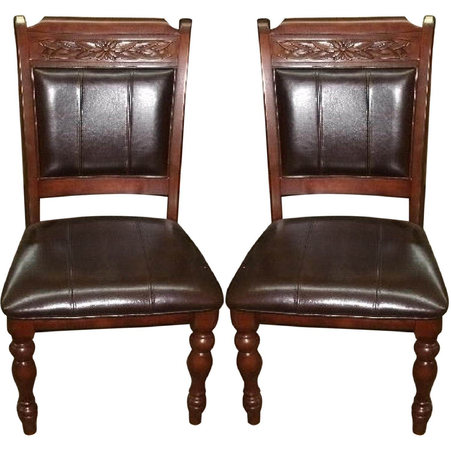 Wood Dining Accent Chairs Set of 2 AptDeco