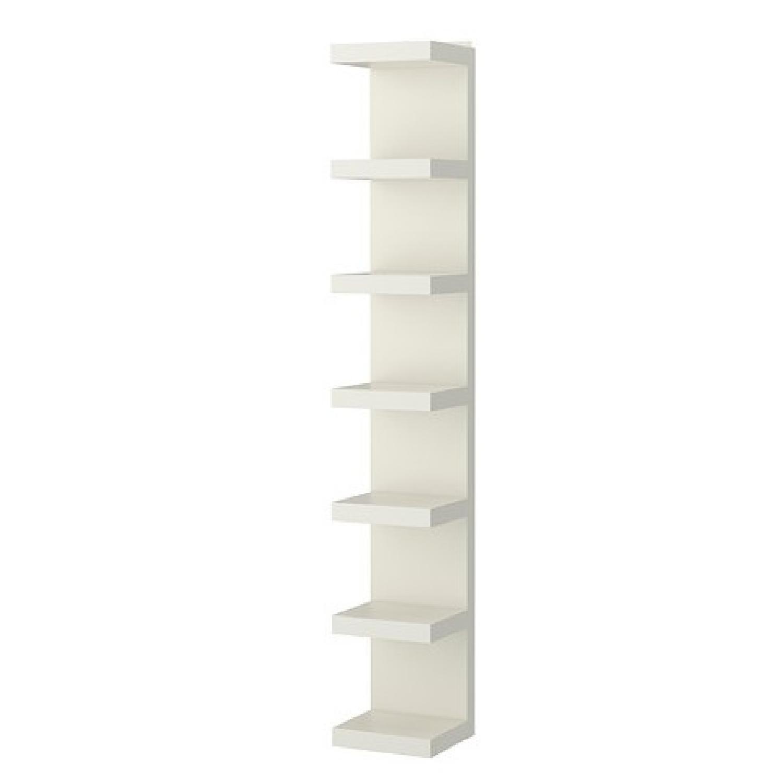 Ikea Lack White Lacquer Wall Shelf Unit Aptdeco