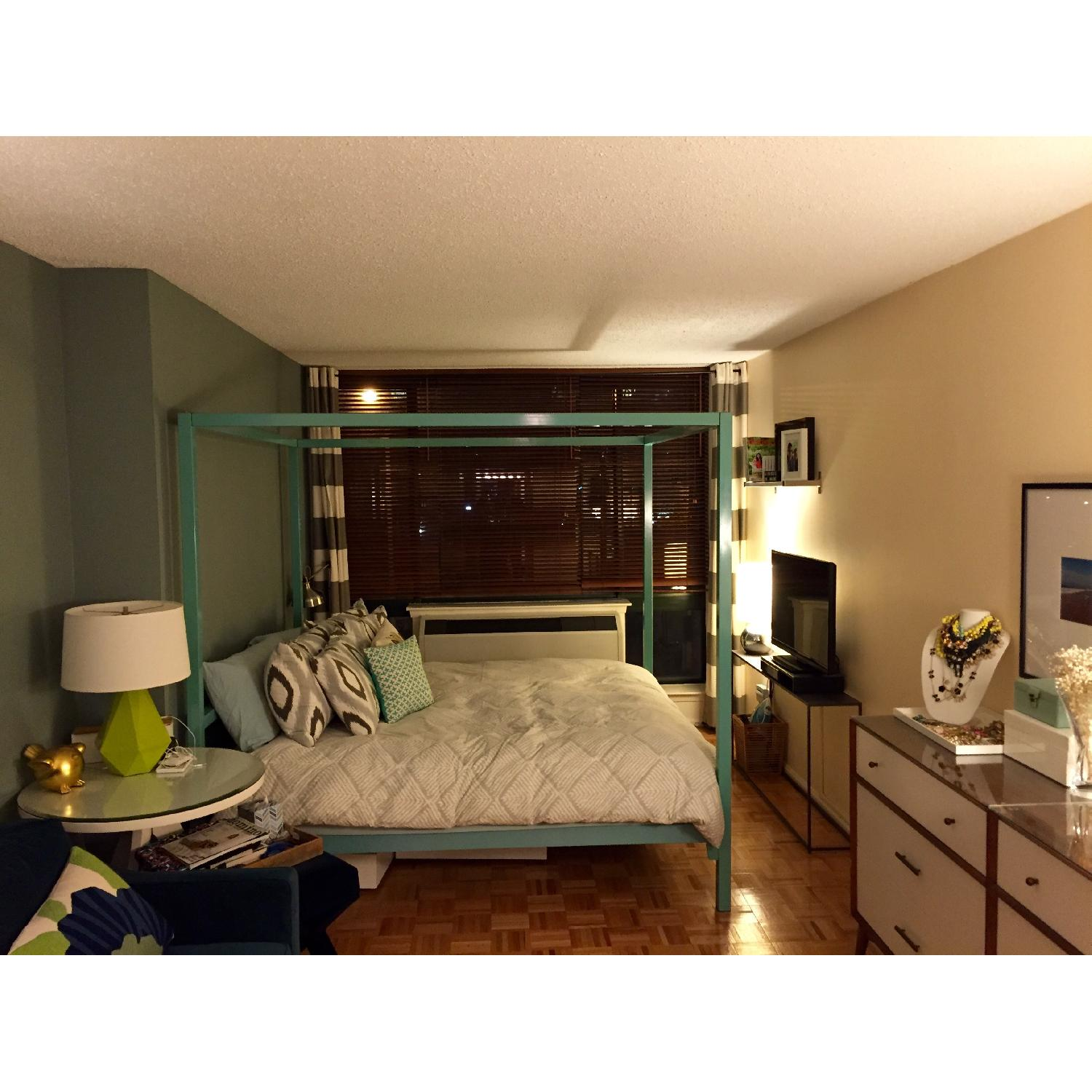 Room & Board King Size Canopy Architecture Bed - image-1