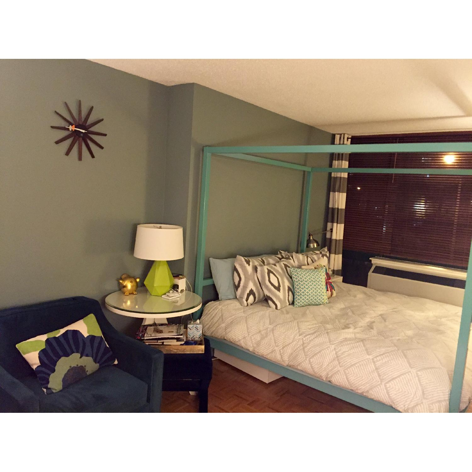 Room & Board King Size Canopy Architecture Bed - image-2