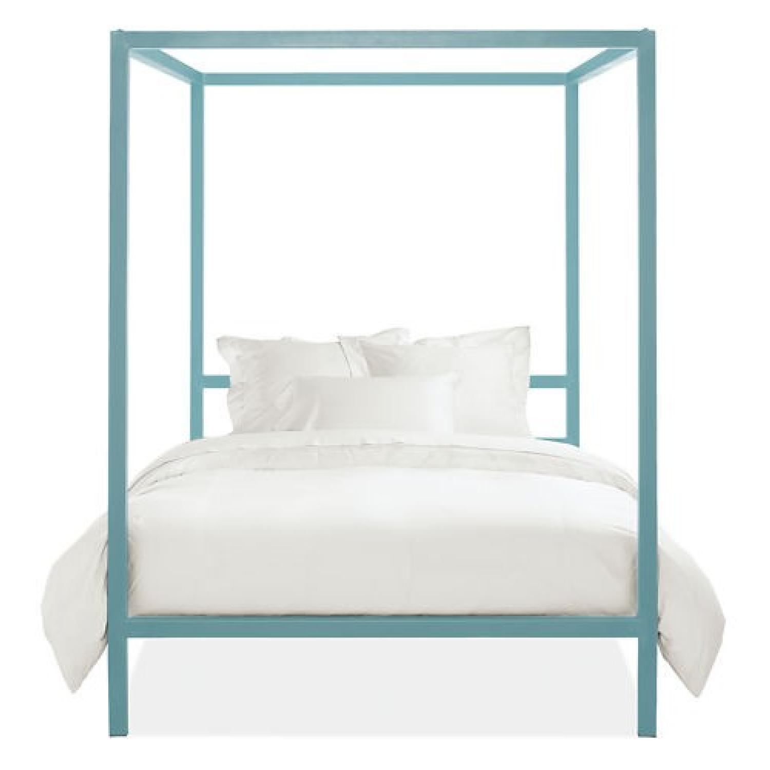 Room & Board King Size Canopy Architecture Bed - image-3