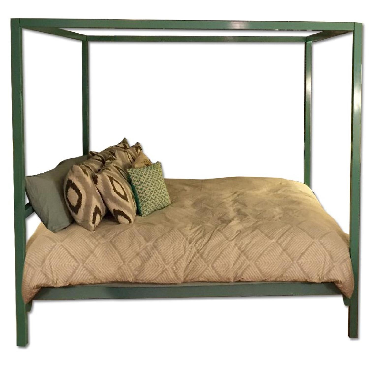 Room & Board King Size Canopy Architecture Bed - image-0