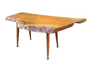 Live Edge Coffee Table Cherry Wood