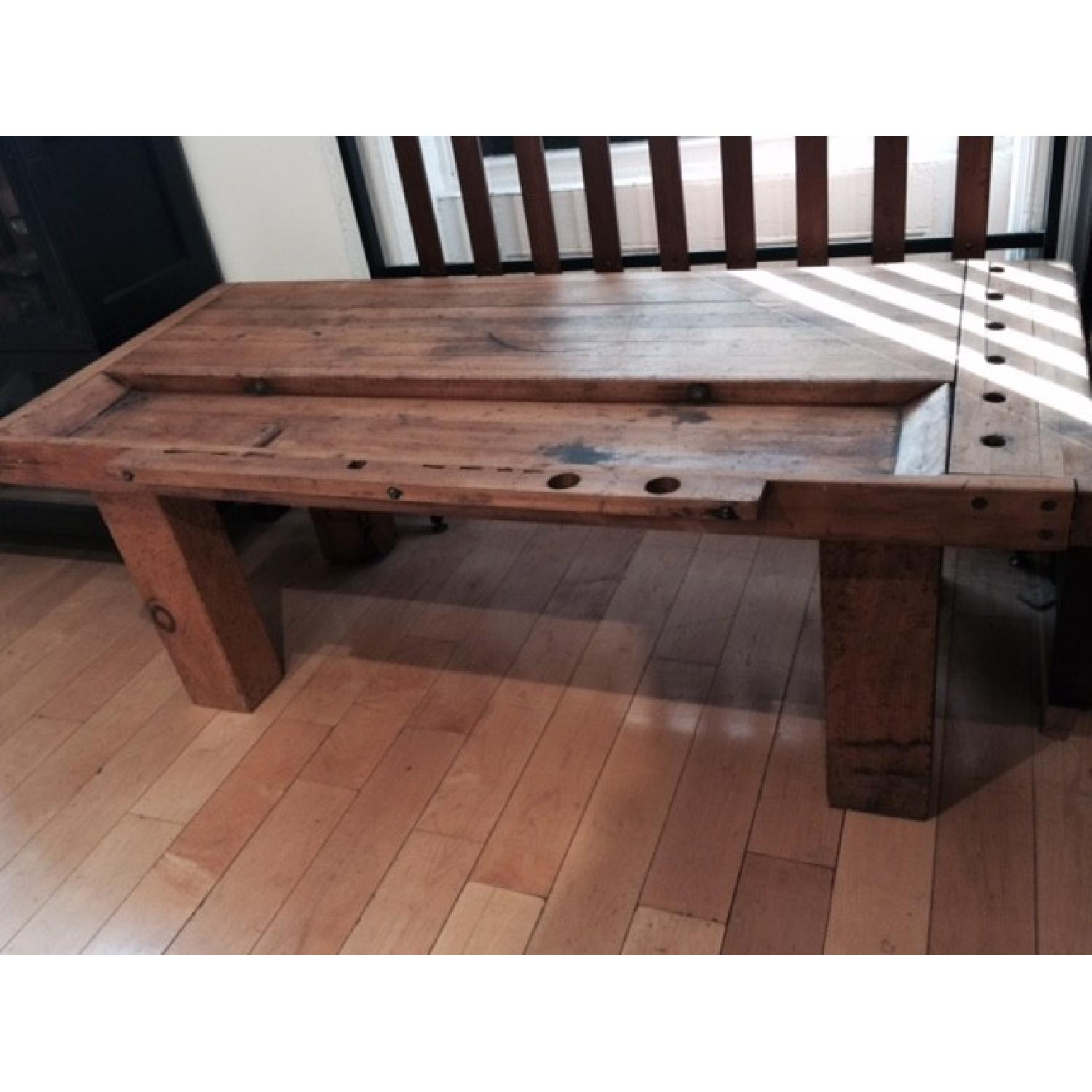 Rustic Workbench Coffee Table AptDeco
