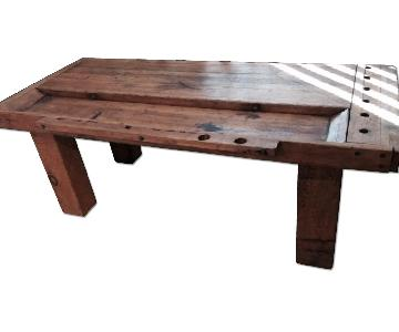 Rustic Workbench Coffee Table
