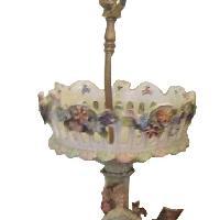 Antique Porcelain Table Lamps - Pair