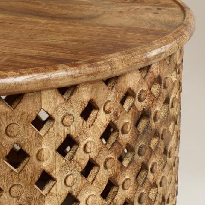 Vintage African Drum Coffee Table - image-2