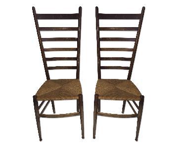 Vintage Italian Ladderback Chairs - Pair
