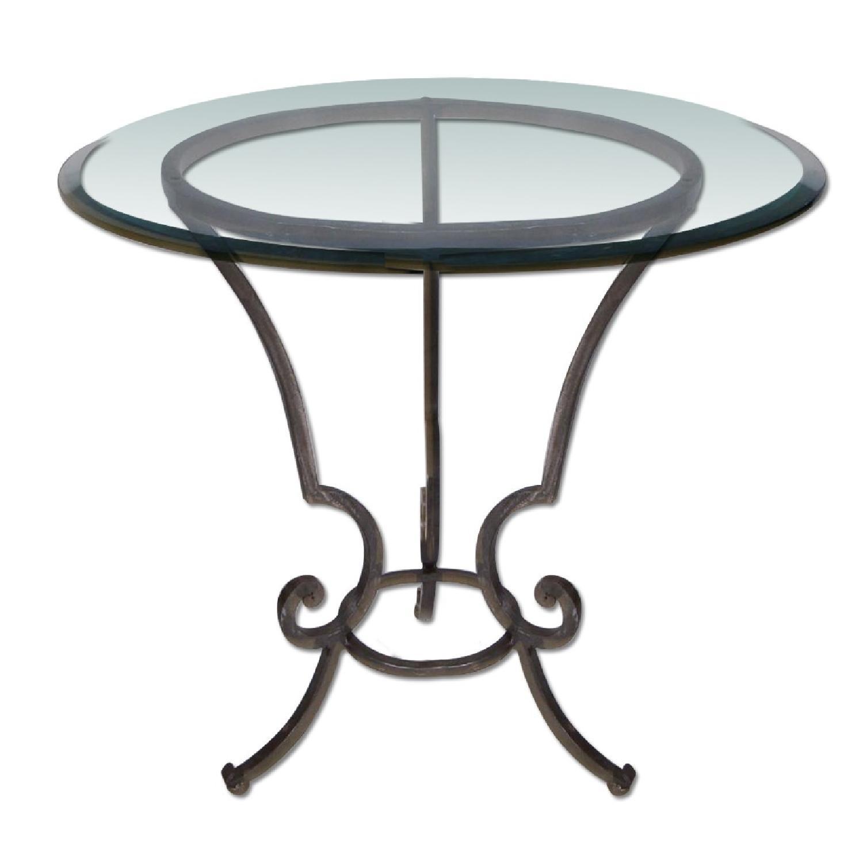 noir anna antiqued mirror side tables aptdeco. Black Bedroom Furniture Sets. Home Design Ideas