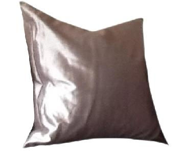 Grey Faux Silk Accent Pillows - 4 Available