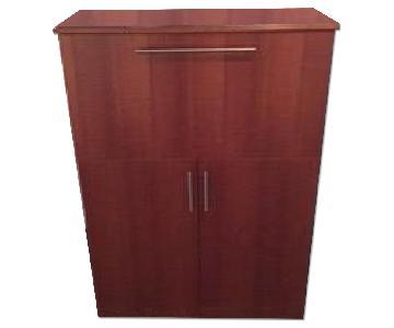 Wood Custom Bar Cabinet