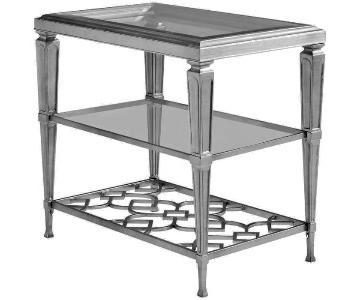 Caracole 3 Shelf Side Table w/ Glass Top
