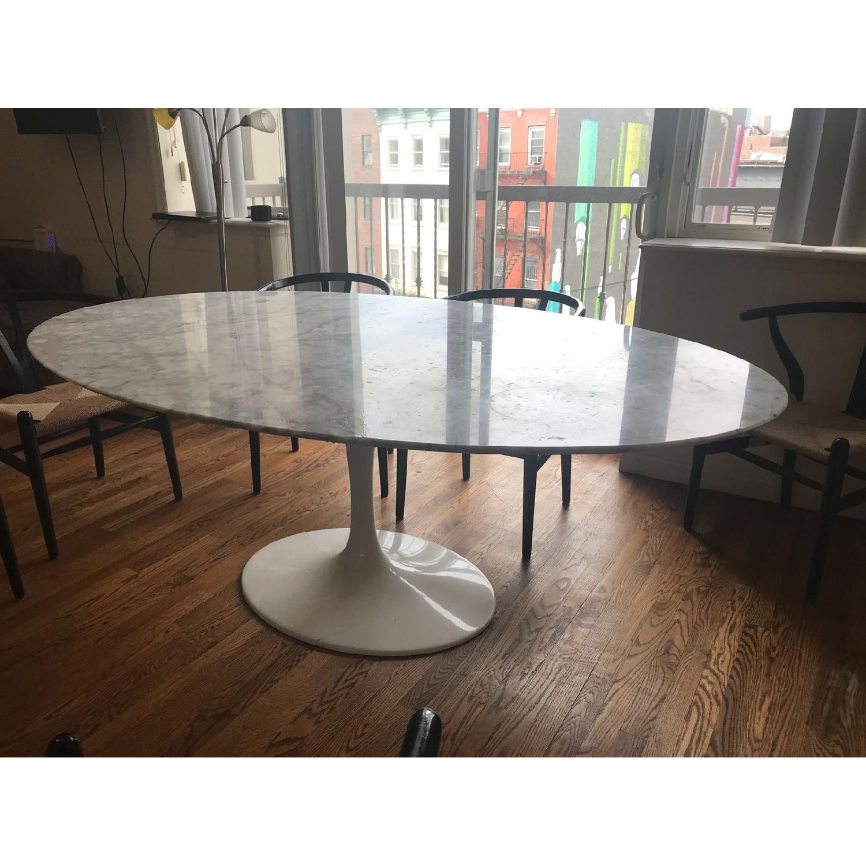 Room & Board Tulip Oval Marble Dining Table - AptDeco