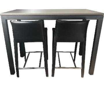 Room & Board Parsons Counter Table w/ 2 Stools