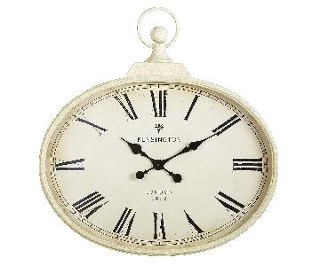 Pier 1 Ivory Antiqued Wall Clock