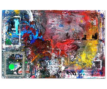 NYC Artis Modern Abstract Original Wall Painting