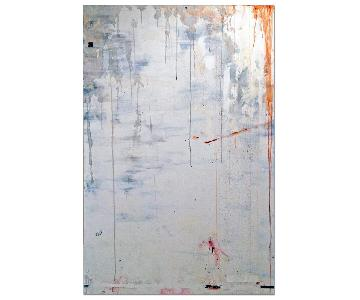 NYC Artist Giant White Original Painting - Cloverfield
