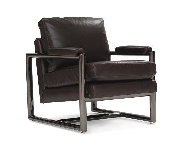 Mitchell Gold + Bob Williams Presley Leather Chair in Black