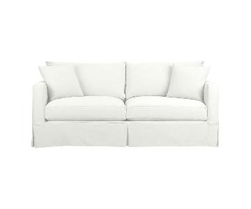 Crate & Barrel Willow White Slipcovered Sofa