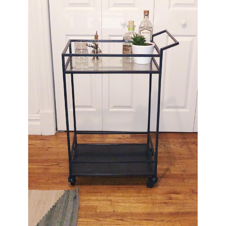 Allmodern Modern Glass Iron Bar Cart Aptdeco