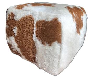 Room & Board Lind Square Cowhide Ottoman