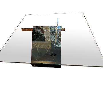 Artedi Marble Base & Glass Top Coffee Table