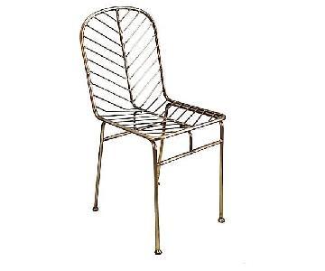 Selamat Jani Side Chair in Antique Brass
