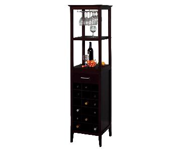 Crate & Barrel Bar & Wine Tower