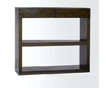 West Elm Espresso Wood Console