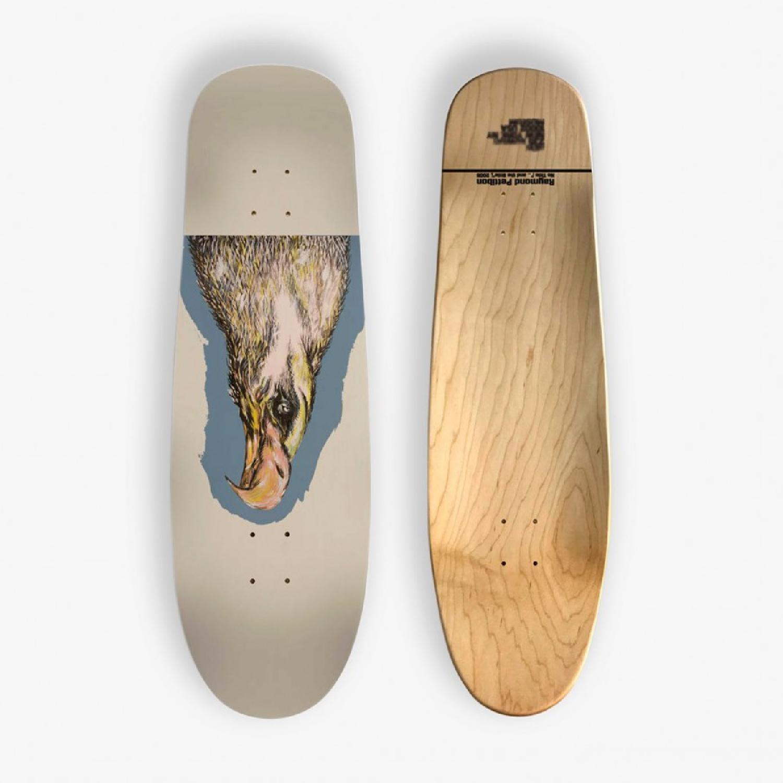 Raymond Pettibon Original Skateboard Art
