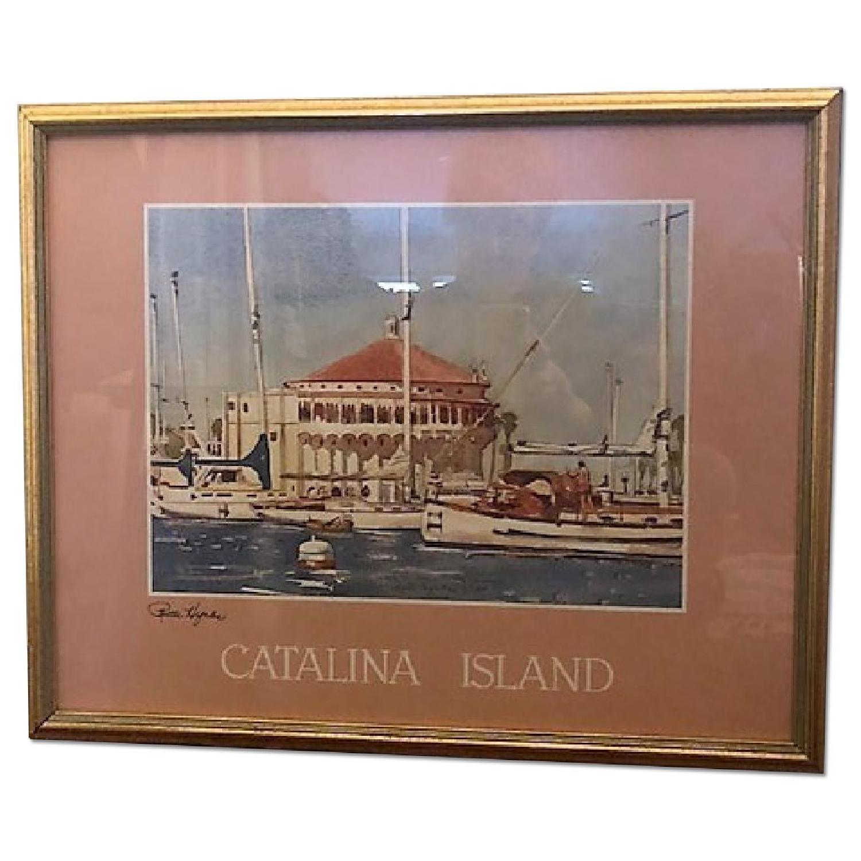 Ruth Hynds Framed Print - Catalina Island Harbor