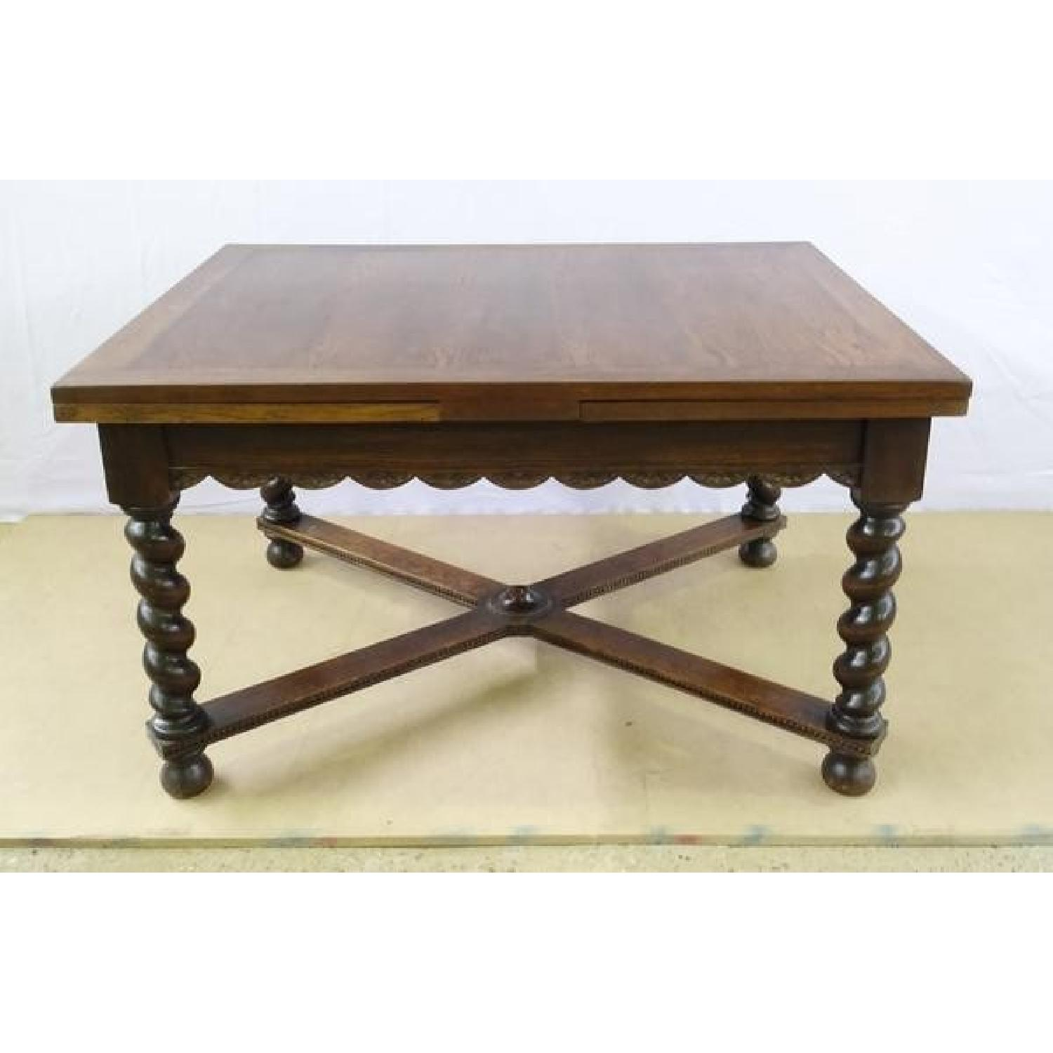 Antique French Extending Barley Twist Oak Dining Table ...
