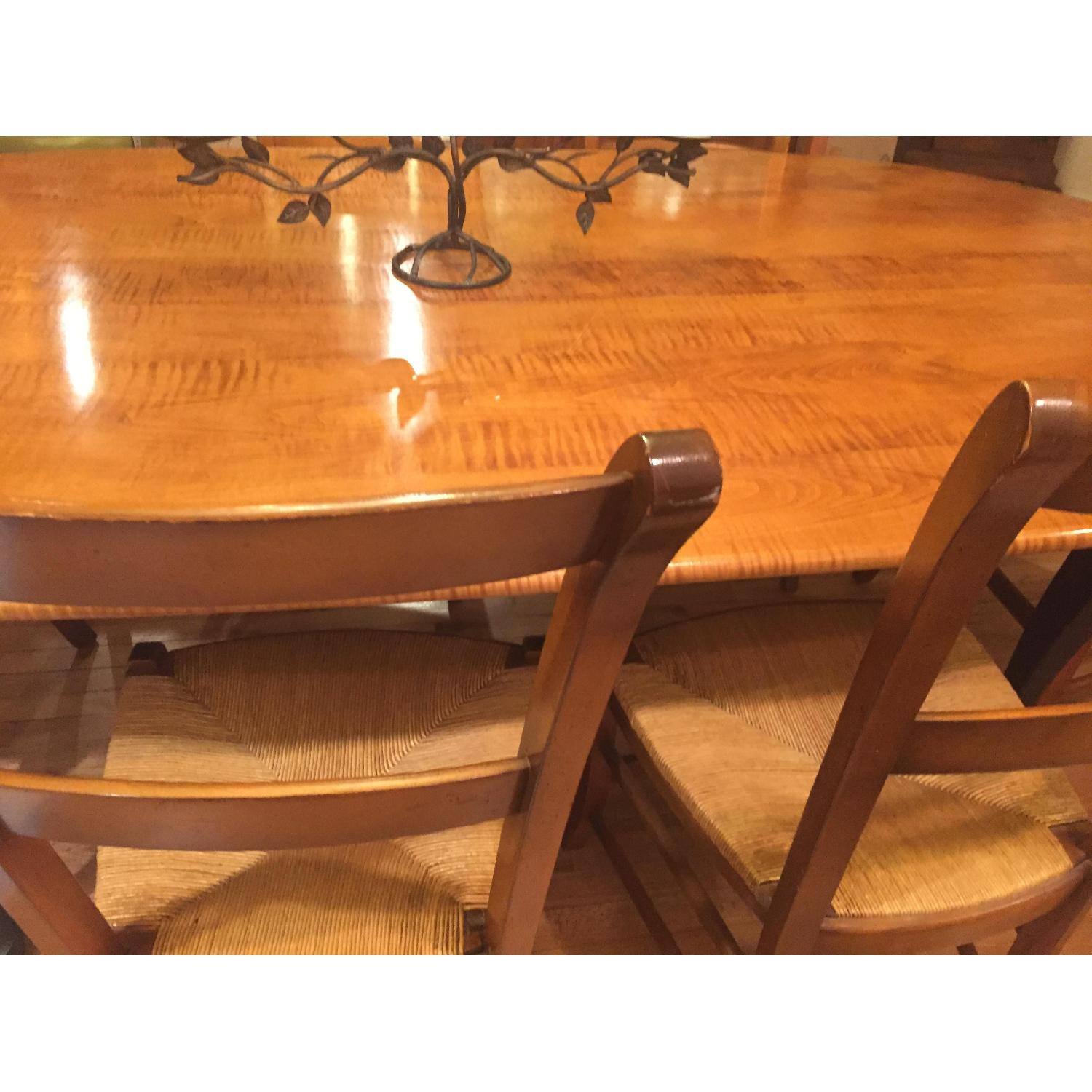 ABC Carpet And Home Custom Tiger Maple Table W 8 Chairs 3