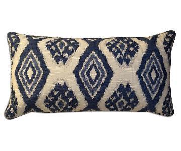 Ballard Designs Blue Ikat Lumbar Pillow