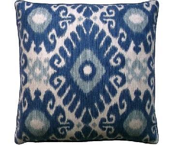 Ryan Studios Ikat Blue Pillow
