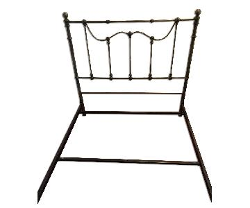 Full Size Wrought Iron Panel Bed Frame