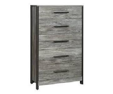 Ashley Cazenfeld Black/Gray Five Drawer Chest