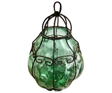Murano Caged Glass Hanging Light