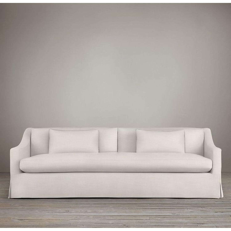 7 Belgian Slope Arm Slipcovered Sofa