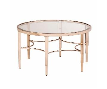Willa Interiors Jaidan Metallic Gold Coffee Table