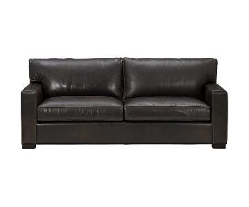 Crate & Barrel Axis II Leather 2-Seat Sofa