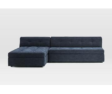 West Elm Plateau 2-Piece Storage Chaise Sectional Sofa
