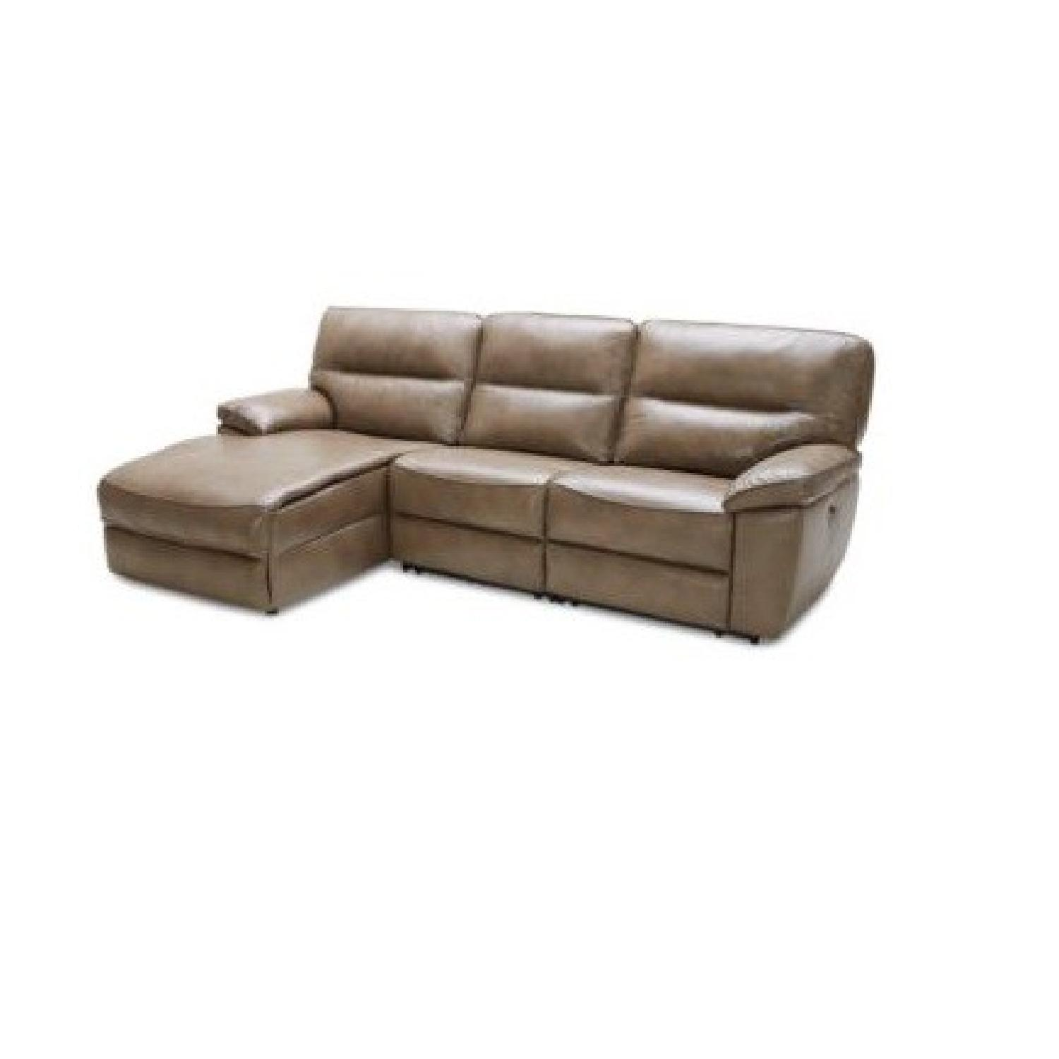 Macyu0027s Leather Power Recliner Sectional Sofa W/ Chaise ...