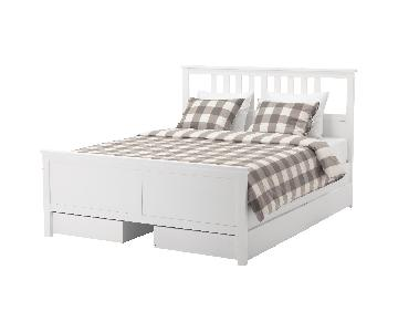 Ikea Queen Size Bed Frame w/ 3 Storage Drawers