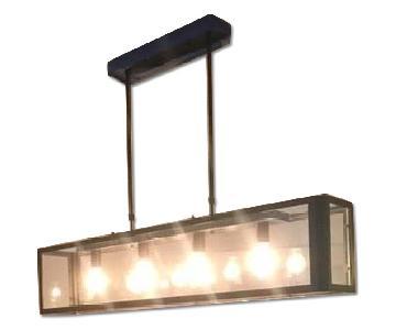 Industrial 4 Bulb Ceiling Light